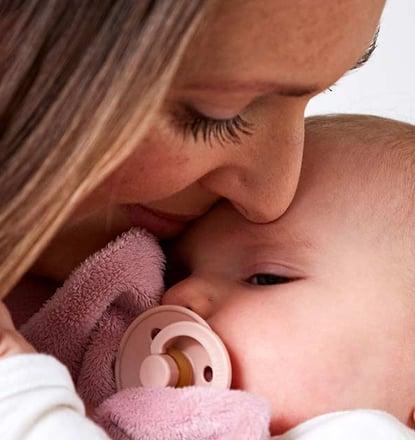 Mãe com o seu bebé