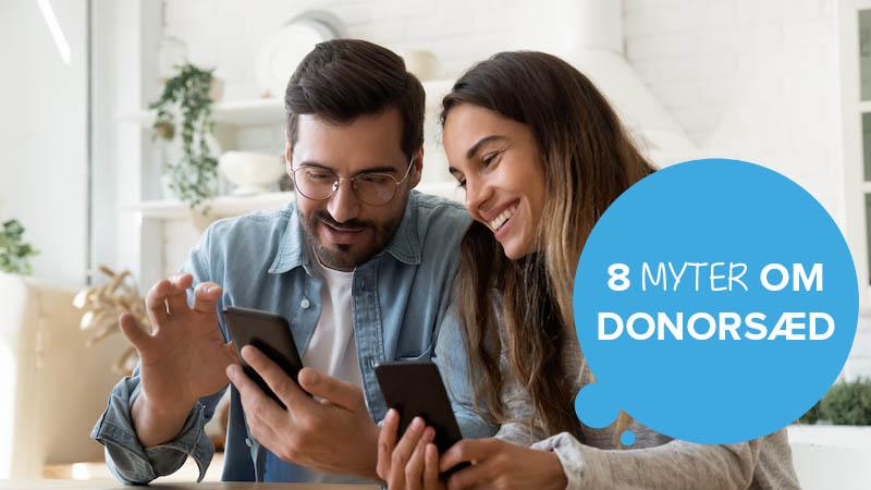 To personer, der læser om brug af donorsæd