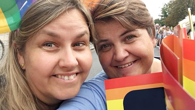De lesbiske mødre Helga og Maria