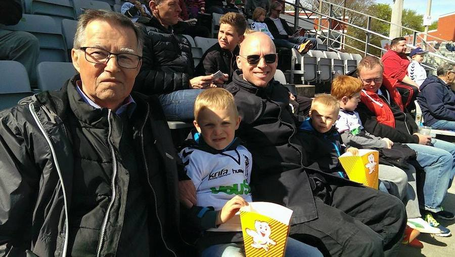 Uffe is donor-conceived. Here he is together with his family