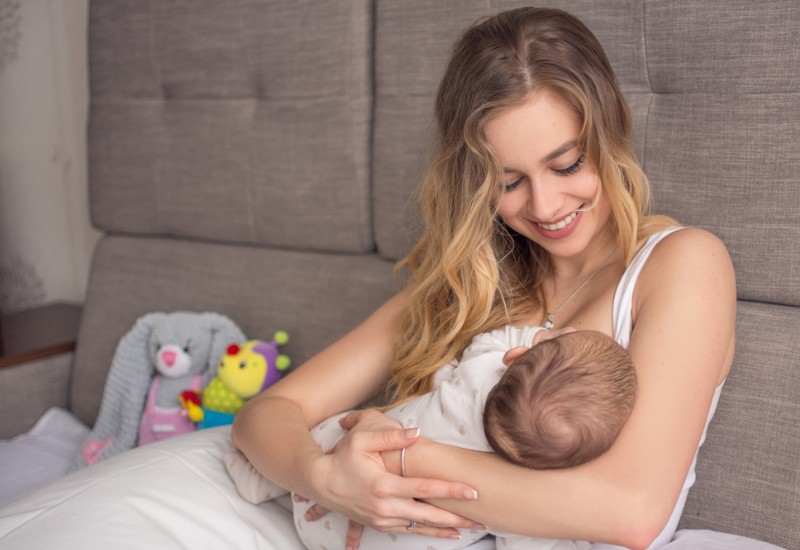 A Single Mother by Choice breastfeeding her child