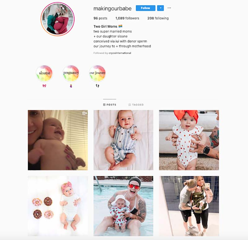 Making our babes Instagram profile