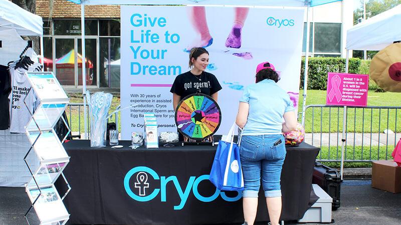 LGBTQ Couples Orlando Pride Cryos booth