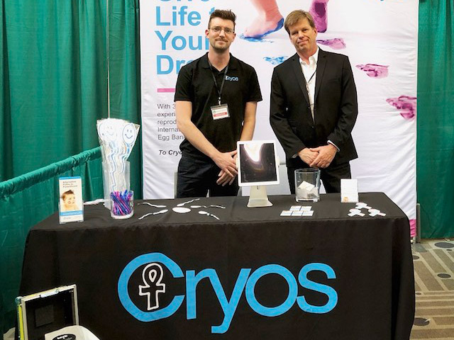 Cryos booth at the American Fertility Expo