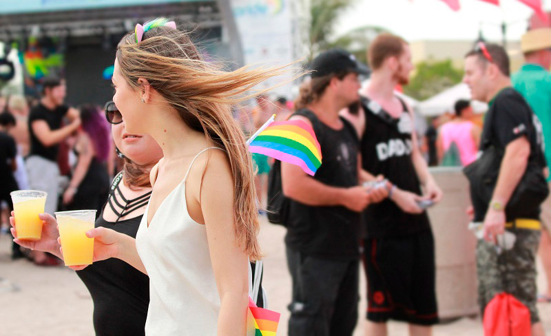 Cryos International Sperm and Egg Bank attended Fort Lauderdale Pride - LGBTQ pride party goers