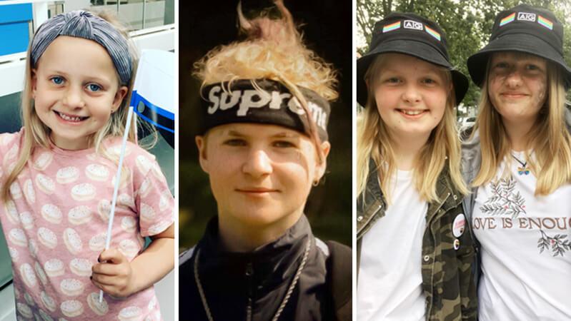 Quattro figli di donatori